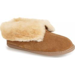 Women's Minnetonka Sheepskin Slipper Bootie, Size 10 M - Beige found on Bargain Bro from Nordstrom for USD $53.16