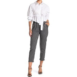FRNCH Stripe Print Crop Pants at Nordstrom Rack found on MODAPINS from Nordstrom Rack for USD $88.00