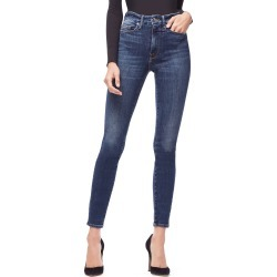 Women's Good American Good Waist Ripped High Waist Skinny Jeans