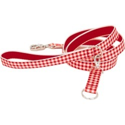 Harry Barker Gingham Dog Leash, Size Small - Red found on Bargain Bro Philippines from LinkShare USA for $28.00