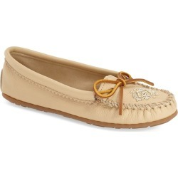 Women's Minnetonka Beaded Moccasin, Size 11 M - Beige found on MODAPINS from Nordstrom for USD $62.95