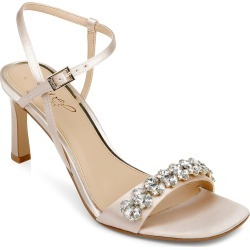 Women's Jewel Badgley Mischka Patsy Embellished Sandal, Size 6 M - Metallic found on Bargain Bro Philippines from Nordstrom for $109.00