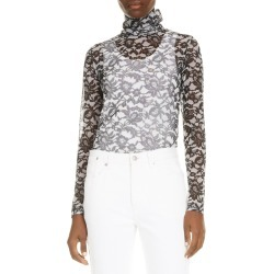 Women's Dries Van Noten Hotala Sheer Lace Turtleneck found on MODAPINS from Nordstrom for USD $355.00