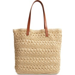 Nordstrom Packable Metallic Thread Woven Raffia Tote - Brown found on Bargain Bro India from Nordstrom for $69.00