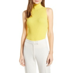 Women's Anne Klein Ribbed Sleeveless Turtleneck, Size XX-Small - Yellow found on MODAPINS from Nordstrom for USD $69.00