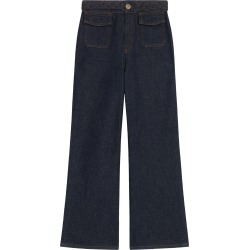 Women's Sandro Braided Waist Wide Leg Jeans, Size 8 US - Blue found on Bargain Bro from Nordstrom for USD $186.20
