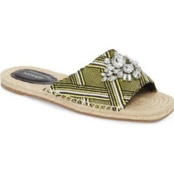 Women's Topshop Hey Espadrille Square Slider Sandals, Size 6.5US / 37EU M - Yellow