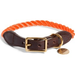 Found My Animal Rope & Leather Dog Collar, Size Large - Orange found on Bargain Bro Philippines from LinkShare USA for $56.00