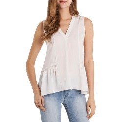 Women's Vince Camuto Sleeveless Rumple Ruffle Blouse, Size X-Small - White found on Bargain Bro from Nordstrom for USD $52.44
