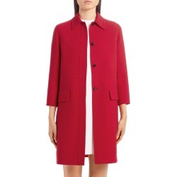 Women's Valentino Logo Embossed Wool Topper, Size 10 US - Red found on Bargain Bro Philippines from LinkShare USA for $2100.00