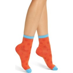 Women's Hysteria By Happy Socks Viktoria Ankle Socks, Size 9/11 - Red found on MODAPINS from Nordstrom for USD $18.00