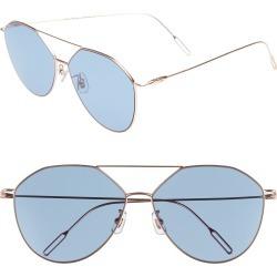 Women's Vedi Vero 62Mm Metal Oversize Aviator Sunglasses - Rose Gold/navy found on Bargain Bro Philippines from Nordstrom for $214.00