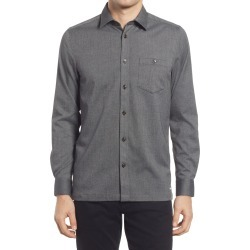 Men's Ted Baker London Robott Button-Up Shirt, Size 4 - Grey found on Bargain Bro from Nordstrom for USD $120.84