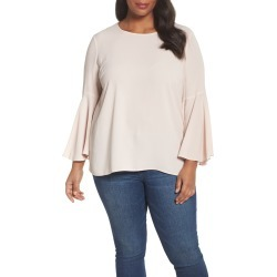 Plus Size Women's Vince Camuto Bell Sleeve Blouse, Size 3X - Pink
