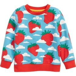 Toddler Girl's Mini Boden Kids' Strawberry Print Sweatshirt, Size 3-4Y - Blue found on Bargain Bro Philippines from Nordstrom for $47.00