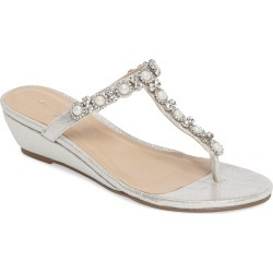 Women's Paradox London Pink Marnie Embellished T-Strap Wedge found on MODAPINS from Nordstrom for USD $53.96