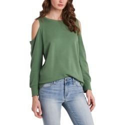Women's Vince Camuto Cold Shoulder Top, Size X-Small - Green found on MODAPINS from Nordstrom for USD $69.00