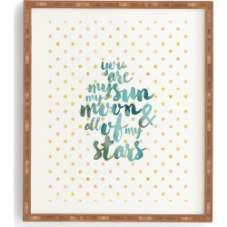 Deny Designs You Are My Sun Moon & Stars Framed Wall Art, Size One Size - Blue/green found on Bargain Bro India from Nordstrom for $39.00