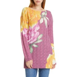 Women's Etro Metallic Floral Cable Knit Sweater found on MODAPINS from LinkShare USA for USD $556.00