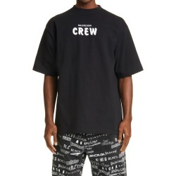 Men's Balenciaga Crew Large Fit Graphic Tee, Size Small - Black found on MODAPINS from Nordstrom for USD $615.00