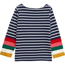 Toddler Girl's Mini Boden Breton Tee, Size 3-4Y - Red