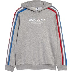 Boy's Adidas Originals Kids' Tricolor Stripe Hoodie, Size S - Grey found on MODAPINS from Nordstrom for USD $50.00