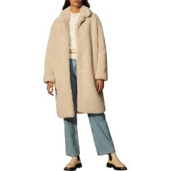 Women's Sandro Faux Fur Coat, Size 6 US - Beige found on Bargain Bro from Nordstrom for USD $403.75