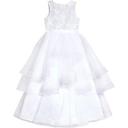 Girl's Us Angels Embroidered Bodice Tulle Communion Dress