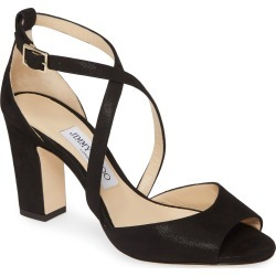 Women's Jimmy Choo Carrie Shimmer Sandal, Size 6US - Black (Nordstrom Exclusive) found on Bargain Bro India from LinkShare USA for $695.00