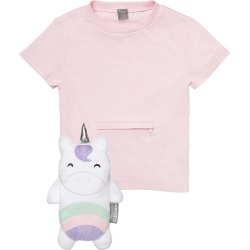 Toddler Girl's Cubcoats Uki The Unicorn 2-In-1 Stuffed Animal T-Shirt, Size 2T - Pink found on Bargain Bro Philippines from Nordstrom for $20.00