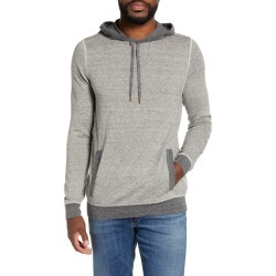 Men's Billy Reid Neppy Pullover Hoodie, Size Large - Grey
