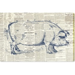 Oliver Gal Pig Farmhouse Canvas Wall Art