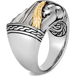 Women's John Hardy Men's Classic Chain Two-Tone Ring With Damascus Steel found on MODAPINS from Nordstrom for USD $1495.00