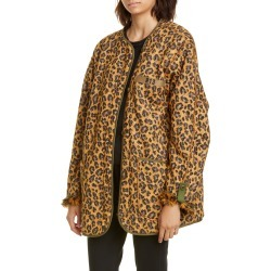 Women's R13 Faux Fur Lined Leopard Print Military Liner Jacket, Size Large - Brown found on Bargain Bro India from Nordstrom for $995.00