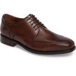 Men's Johnston & Murphy Branning Waterproof Wingtip, Size 10 M - Brown found on Bargain Bro India from Nordstrom for $129.90