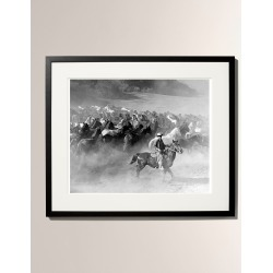 Rounding Up The Horses Framed Photo Print - Large