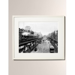 Chugging Along Third Avenue Framed Photo Print - Large