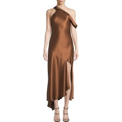One-Shoulder Satin Slip Dress found on MODAPINS from neimanmarcus.com for USD $1695.00