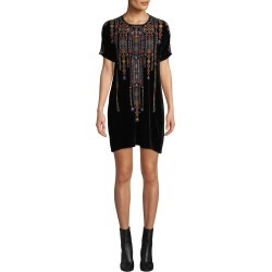 Cleo Velvet Embroidered Shift Tunic Dress found on MODAPINS from neimanmarcus.com for USD $141.00