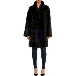 Horizontal Mink Fur Stroller Coat w  Leather Belt found on MODAPINS from  neimanmarcus.com 7d8c7410c6716