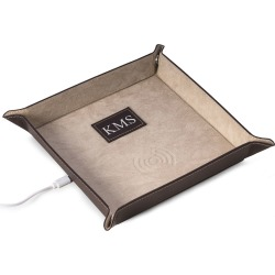 Men's Personalized Leather/Velour Charge Station