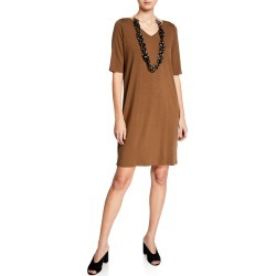 V-Neck Jersey Shift Dress found on MODAPINS from neimanmarcus.com for USD $117.00