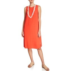 Sleeveless Crepe Shift Dress found on MODAPINS from neimanmarcus.com for USD $258.00