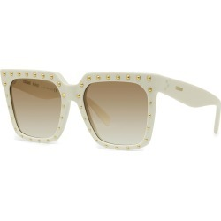 Studded Square Acetate Sunglasses