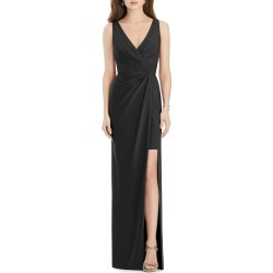 V-Neck Sleeveless Drape-Front Gown Bridesmaid Dress with Slit found on MODAPINS from neimanmarcus.com for USD $269.00