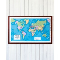 Personalized World Traveler Map found on Bargain Bro India from neimanmarcus.com for $195.00