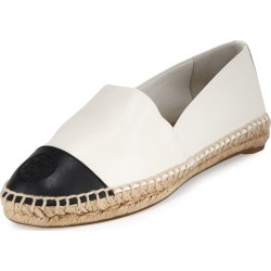 Colorblock Cap-Toe Espadrille Flat, Ivory/Black found on Bargain Bro Philippines from neimanmarcus.com for $198.00
