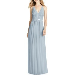 V-Neck Sleeveless Cross-Back Luxe Chiffon Gown Bridesmaid Dress found on MODAPINS from neimanmarcus.com for USD $292.00