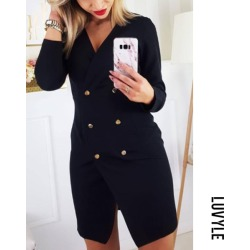 Black Women Plain Bodycon Dresses