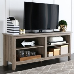 Hard-wearing Essential Wood TV Console In Driftwood Color by Walker Edison
